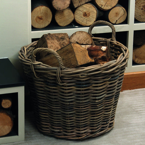 Grey Kubu Round Basket -Grey Kubu Round Storage - Storage by Pacific available from Harley & Lola
