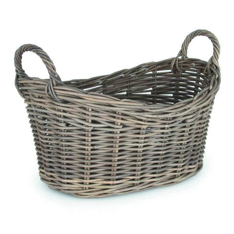 Grey Kubu Oval Laundry Basket -Grey Kubu Oval Laundry Basket - Storage by Pacific available from Harley & Lola