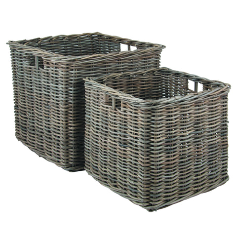 Pacific Lifestyle Grey Kubu Large Square Baskets