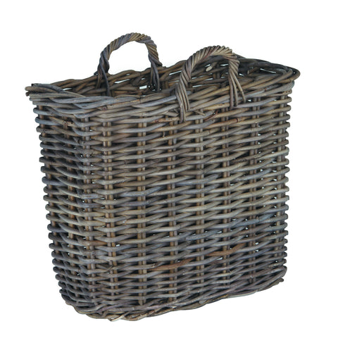 Grey Kubu Magazine Basket -Grey Kubu Magazine Basket - Storage by Pacific available from Harley & Lola