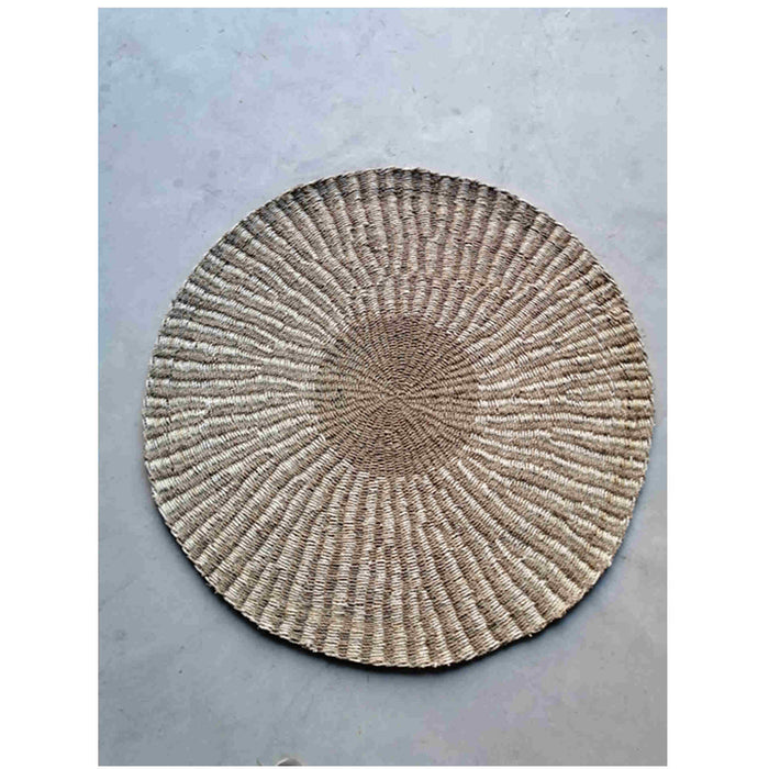 Pacific Lifestyle Woven Seagrass and Palm Leaf Round Rug