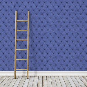 Debbie McKeegan Denim Chesterfield - Indigo Wallpaper