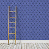Denim Chesterfield - Indigo Wallpaper - - Wallpaper by Debbie McKeegan available from Harley & Lola - 2
