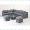 Port Royal Platinum Large Corner Sofa Left
