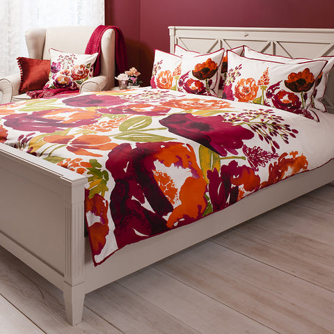 Florence Burnt Orange Quilt Cover Set