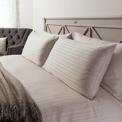 Orla Taupe Quilt Cover Set - - Soft Furnishings by Gallery available from Harley & Lola - 1