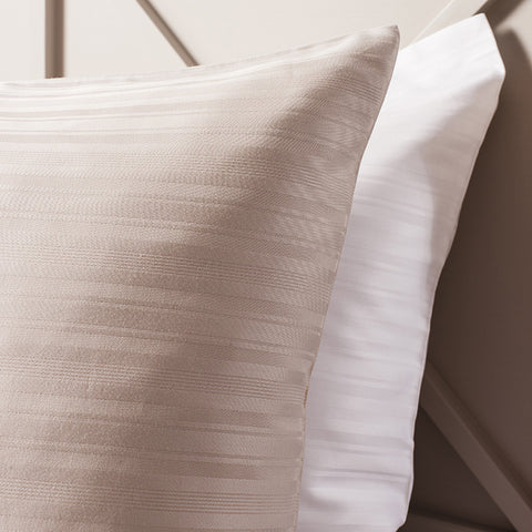 Orla Taupe Housewife Pillowcase - - Soft Furnishings by Gallery available from Harley & Lola