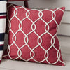 Rope Design Cushion -Red - Soft Furnishings by Gallery available from Harley & Lola - 1