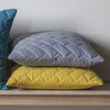 Lola Quilted Cushion -Chartreuse - Soft Furnishings by Gallery available from Harley & Lola - 2
