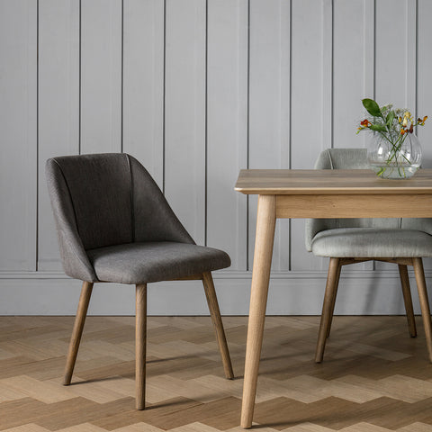 Elliot Dining Chair Slate Grey (Pack of two)