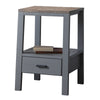 Sherwood Smoked Grey Side Table