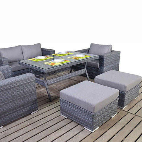Port Royal Platinum Table Sofa Set