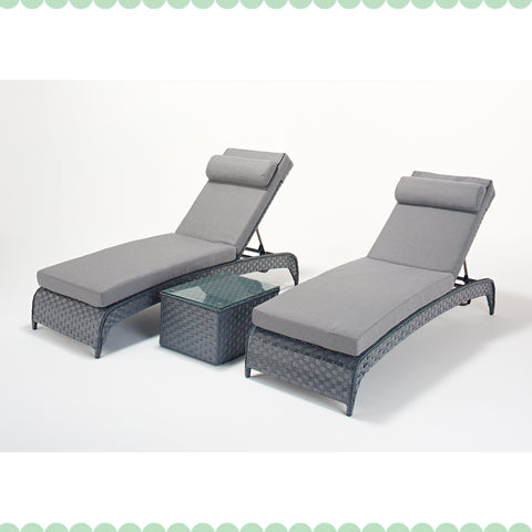 Port Royal Platinum Lounger Pair