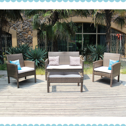 Classic 4 Piece Rattan Sofa Set