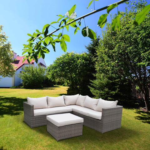 Classic 4 Piece Rattan Corner Set - - Garden & Conservatory by Brundle Garden available from Harley & Lola - 1