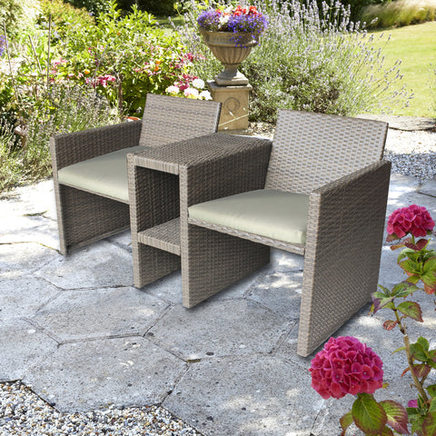 Brundle Gardener Classic 2 Seater Rattan Companion Set