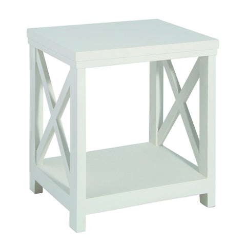 Antique White Mango Wood Side Table