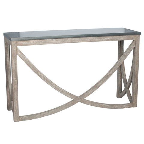 Pacific Lifestyle Jatani Distressed Rock & Brushed Mango Wood Console