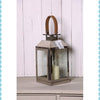 Leather Handle Hurricane Lantern -Large - Garden & Conservatory by Petti Rossi available from Harley & Lola - 2