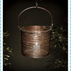 Antique Copper Round Basket Lantern -Medium - Garden & Conservatory by Petti Rossi available from Harley & Lola - 3