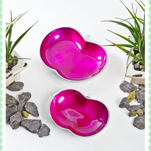 Aluminium Plum Dish Set Of 2 by Harley and Lola