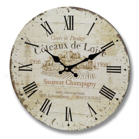 Coteaux De Loire Clock - - Plaque by WDS4U available from Harley & Lola