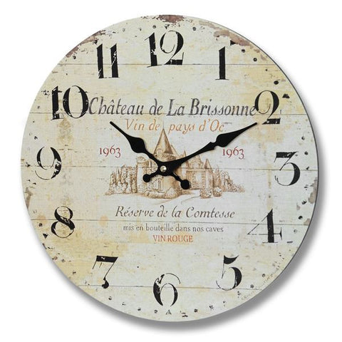Chateau De La Brisonne Clock - - Plaque by WDS4U available from Harley & Lola