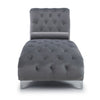 Shankar Dorchester Brushed Velvet Grey Chaise