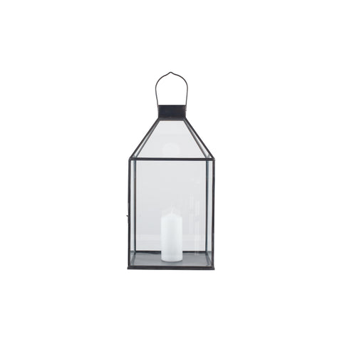 Pacific Lifestyle Metal & Glass Square Lantern
