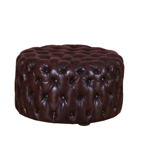 Explorer Leather Foot Stool