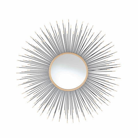 Pacific Lifestyle Metal Starburst Round Wall Mirror