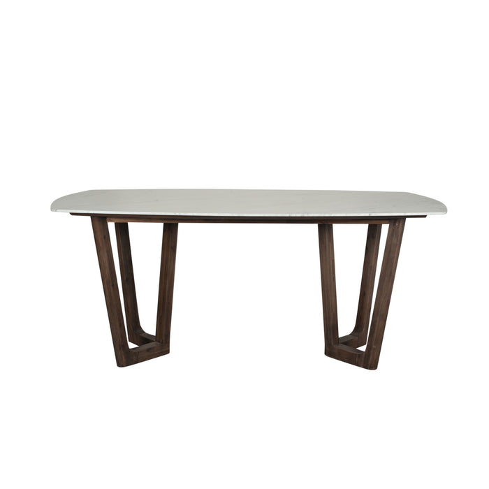 Pacific Lifestyle Cool Brown Acacia Wood & Marble Dining Table K/D
