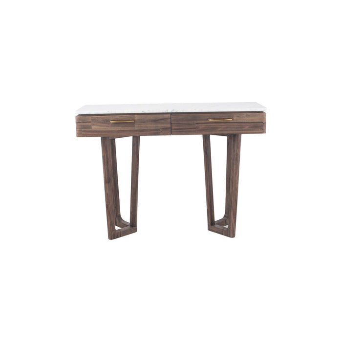 Pacific Lifestyle Cool Brown Acacia Wood & Marble Console Table K/D