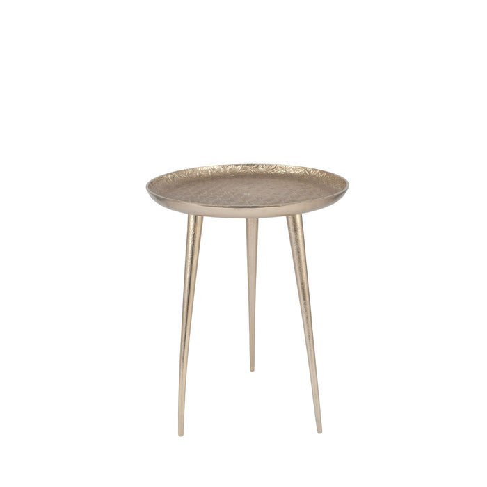 Pacific Lifestyle Metal Embossed Tripod Table