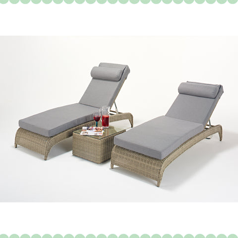 Port Royal Rural Lounger Pair