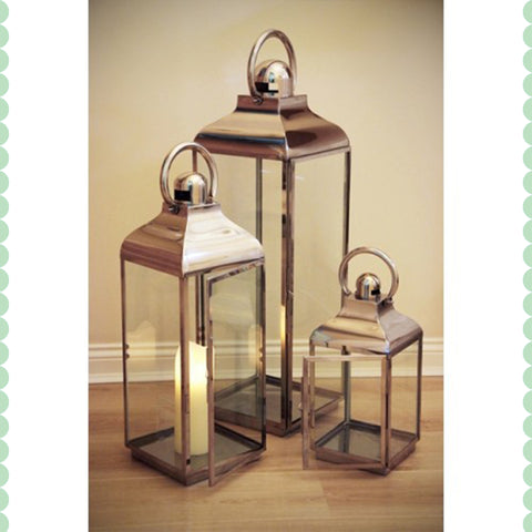 Hanging Hurricane Lantern Set - - Garden & Conservatory by Petti Rossi available from Harley & Lola - 1