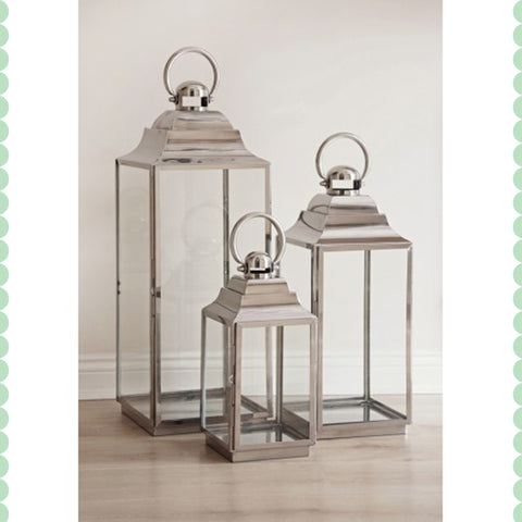 Pavilion Hurricane Lantern Set - - Garden & Conservatory by Petti Rossi available from Harley & Lola