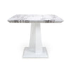 Shankar Saturn Square Marble Effect Top Dining Table