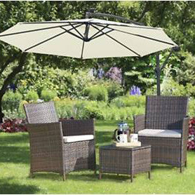 Brundle Gardener Classic 3 Piece Rattan Coffee Set