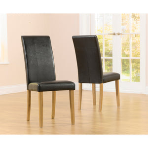 Mark Harris Atlanta Faux Leather Dining Chairs (Pair)