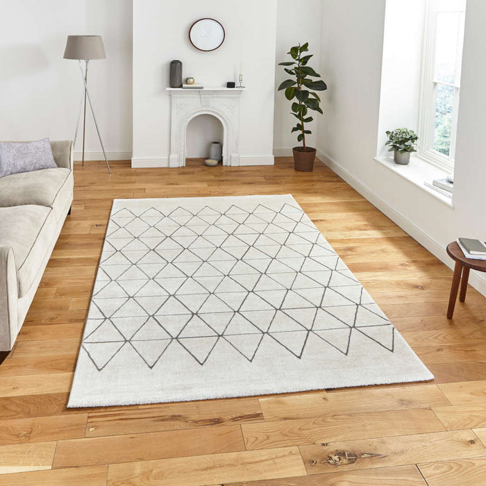 Think Rugs Aurora 54238 Light Beige/Grey