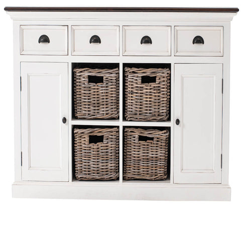 Novasolo Halifax Buffet with 4 Basket set - Brown Top