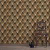 Chesterfield Faux Leather Wallpaper - - Wallpaper by Debbie McKeegan available from Harley & Lola - 2