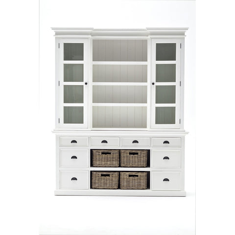 Novasolo Halifax Library Hutch with basket set