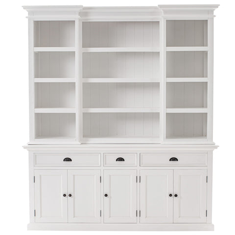 Novasolo Halifax Kitchen Hutch Cabinet with 5 doors, 3 Drawers