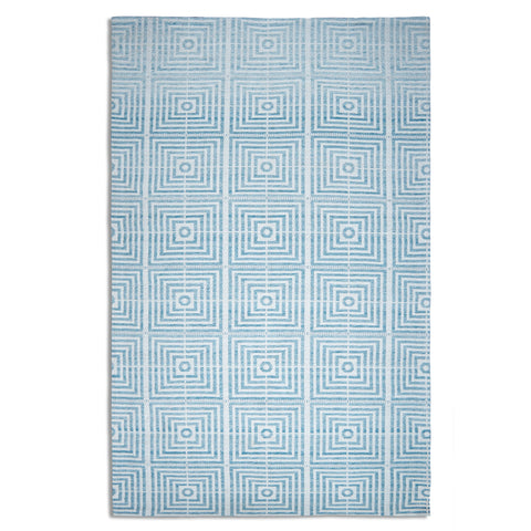 Plantation Rug Co. Be Square Light Blue