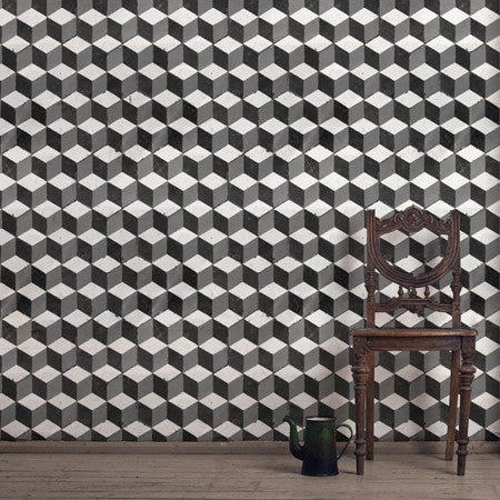 Abacus Black & White Wallpaper - - Wallpaper by Debbie McKeegan available from Harley & Lola - 1