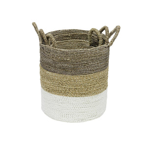 ManTeak Set of 3 Grey Top Baskets