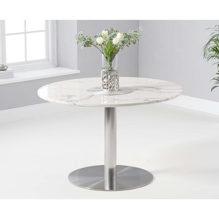 Mark Harris Battista 120cm Round White Dining Table