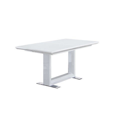 Beckley 160Cm Solid Wood Table With White High Gloss Finish by Harley & Lola